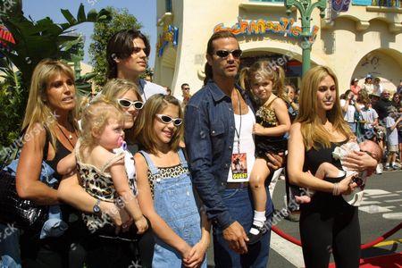 Lorenzo Lamas, Shauna Sands and family