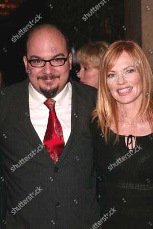 Anthony Zuiker and Marg Helgenberger