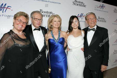 Claude Mann, Larry King, Mary Hart, Cassandra Mann & Alfred Mann