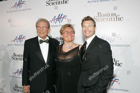 Alfred Mann, Claude Mann and Ryan Seacrest