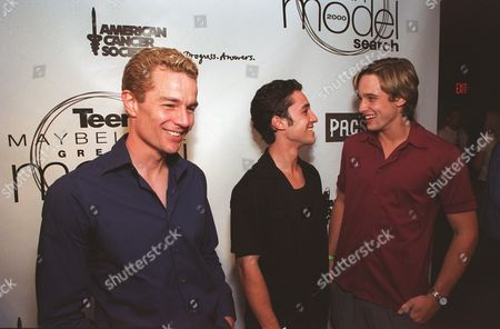 """6-7-00  West Hollywood, Ca Photo®Alex Berliner/BEI  A005682-13 James Marstens, Thomas Ian Nichols and Jay Johnson at the 19th annual """"Great Model Search"""" sponsered by Teen Magazine and Maybelline held at the Key Club in West Hollywood.  Special guests include Mila Kunis, Nicholas Brendon, Thomas Ian Nicholas, and live performances by Save Ferris, Bosson, and No Authority."""