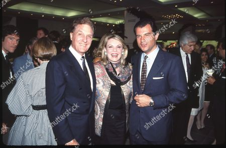 Robert Stack and wife Rosemarie and Massimo Ferragamo
