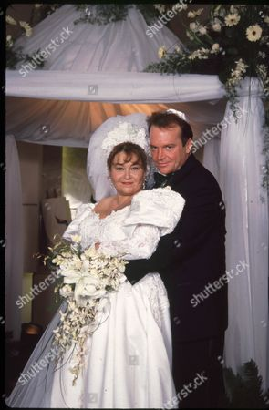 Roseanne Barr and Tom Arnold Wedding Portrait