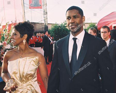 Paulette Washington and Denzel Washington