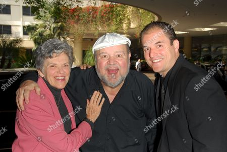 Stock Photo of Carol Arthur, Dom DeLuise and son Michael