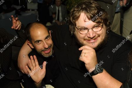 03_23_02 Los Angeles, Ca. David Goyer and Guillermo Del Toro at the pre-Oscar party hosted by Bob Shaye. Photo ® Alberto Rodriguez/BEI