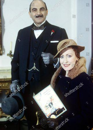 David Suchet and Pauline Moran (Miss Lemon) in 'Poirot - Hickory Dickory Dock' - 1995