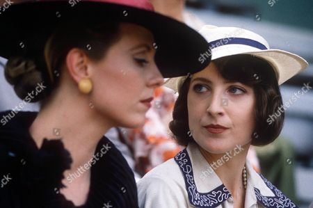 Amanda Royle and Cathryn Harrison in 'Poirot - Death in the Clouds' - 1992
