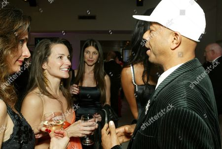 Stock Photo of Kristin Davis and Russell Simmons