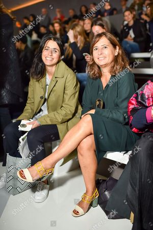Emily Sheffield and Alexandra Shulman in the front row