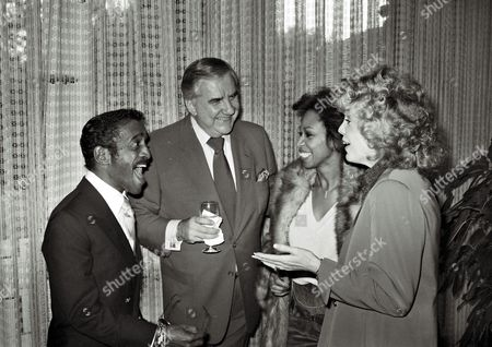 Stock Photo of Sammy Davis Jr, Ed McMahon, Altovise Davis, Victoria Valentine