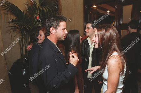 """Stock Image of 20001023      Hollywood, CA David Lascher and Lindsay Sloane at 'The Sunset Room' in Hollywood, celebrating the 100th episode of  """"Sabrina , the Teenage Witch"""". A010805-36 Photo®Ryan Miller/Berliner Studio/BEI"""
