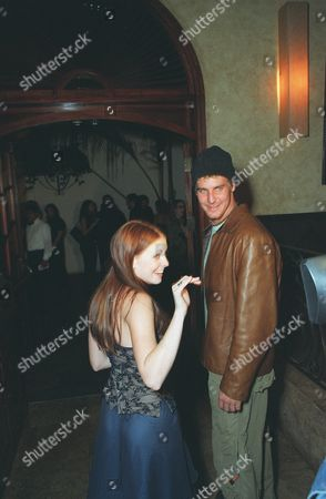 """20001023      Hollywood, CA Melissa Joan Hart and Ingo Rademacher at 'The Sunset Room' in Hollywood, celebrating the 100th episode of  """"Sabrina , the Teenage Witch"""". A010803-24 Photo®Ryan Miller/Berliner Studio/BEI"""