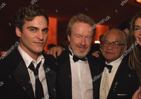 Joaquin Phoenix, Ridley Scott & Dino De Laurentiis