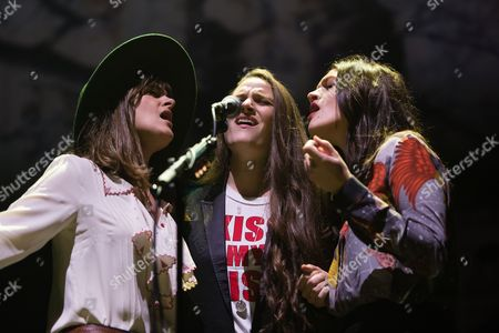 The Staves - Emily Staveley -Taylor (left), Camilla Staveley-Taylor (middle), Jessica Staveley-Taylor (right)