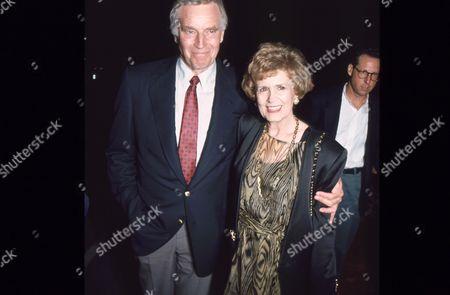 Charlton Heston and wife Lydia Clarke