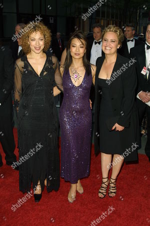ER co-stars Alex Kingston (left) Ming-Na (mid) and Sherry Stringfield