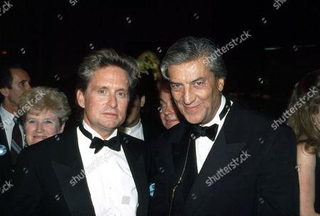 Michael Douglas and Nino Cerruti