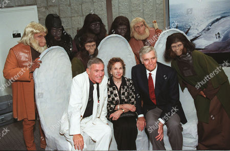 Charlton Heston, Kim Hunter, Roddy McDowall and Apes