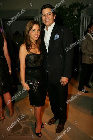 Stock Image of Monique Lhuillier and Tom Bugbee