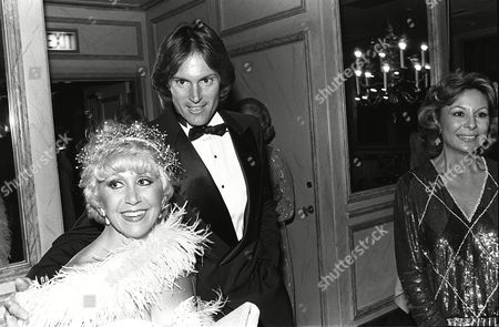 Rona Barrett, Bruce Jenner, and Mrs. Aldo Gucci