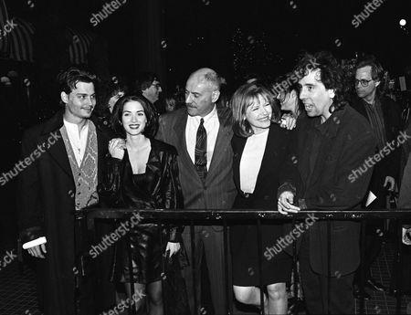 Editorial picture of 'Edward Scissorhands' film premiere