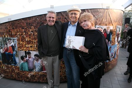 Pat Harrington, Norman Lear and Bonnie Franklin