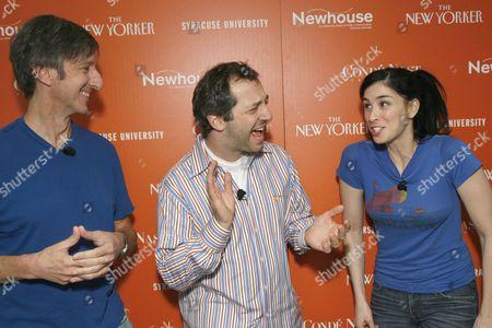 Andy Borowitz, Judd Apatow and Sarah Silverman