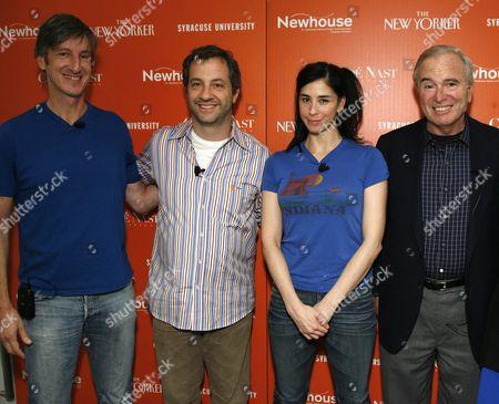 Andy Borowitz, Judd Apatow, Sarah Silverman, Ken Auletta