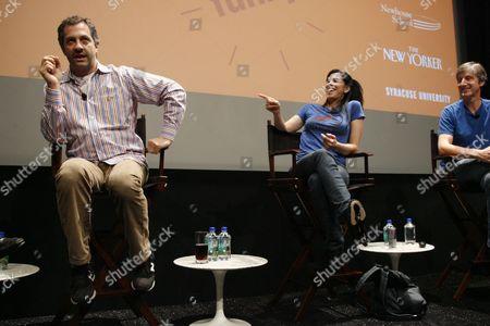 Judd Apatow, Sarah Silverman and Andy Borowitz