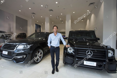 Editorial image of Ares luxury car showroom in Mayfair, London, Britain - 30 Jul 2015