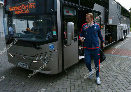 Swansea City goalkeeper Gerhard Tremmel arrives for the Capital One Cup match between Hull City and Swansea City played at the Kingston Communications Stadium, Hull