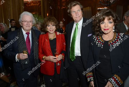 Leslie Bricusse, Evie Bricusse, Theo Fennell and Dame Joan Collins