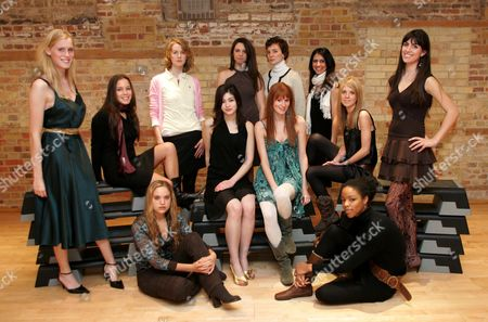 Allegra Feltz (front row, 2nd l), the daughter of Vanessa Feltz, who is in her first year at Cambridge university, she will be among the stunning undergraduates strutting their stuff at the student fashion show.