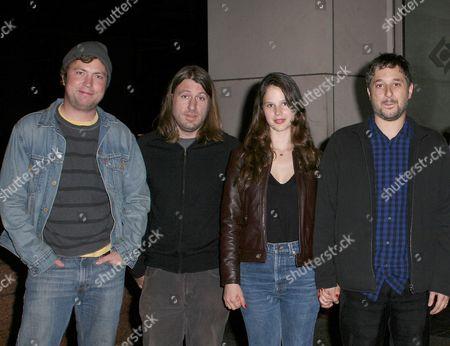 Stock Image of Travis Nicholson, Brian Kotzue, Rachel Korine, Harmony Korine