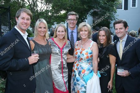 Kevin and Melissa Smith, Jennifer and Rick Keller, Kathi Koll, with Brooke and Chris Shepherdson