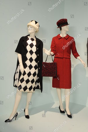 'Mad Men' - (L to R)  Costumes worn by Actors: Peyton List as Jane Sterling, Elisabeth Moss as Peggy Olson
