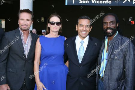 Randolph Duke, Lisa Love, Los Angeles Mayor Antonio Villaraigosa and fashion designer Kevan Hall