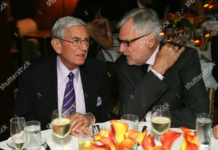Stock Image of Eli Broad and Gil Friesen