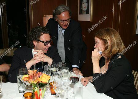 Emanuele Della Valle, Diego Della Valle and Joanna Della Valle