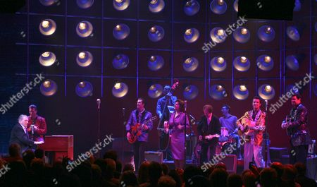 Editorial image of Jerry Lee Lewis Joins Broadway's 'Million Dollar Quartet' for Finale Performance, New York, America - 10 Sep 2010