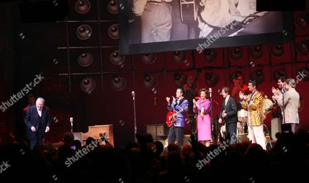 Jerry Lee Lewis and Levi Kreis, Robert Britton Lyons, Elizabeth Stanley, Eddie Clendening and Lance Guest and Hunter Foster