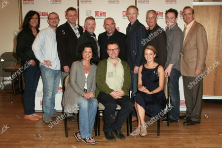 Stock Picture of Back row: MTC Creative Director Lynne Meadow, Christopher Connel, Michael Hodgson, David Whitaker, Director Max Roberts, Ian Kelly, Deka Walmsley, Brian Lonsdale, MTC's Barry Grove - Seated: Phillippa Wilson, Playwright Lee Hall, Lisa McGrillis
