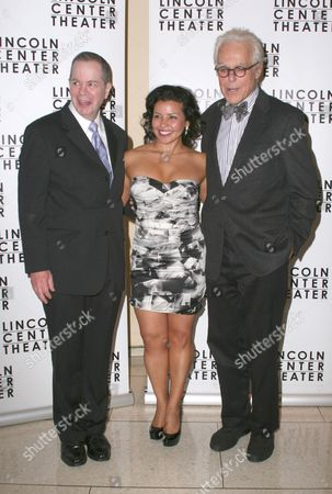 Stock Photo of Peter Bartlett, Justina Machado and John Guare