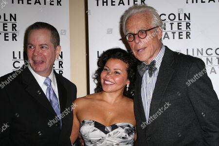 Stock Image of Peter Bartlett, Justina Machado and John Guare