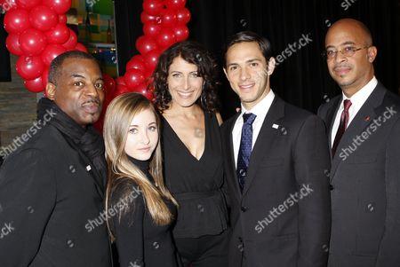 Levar Burton, Rachel Fox, Lisa Edelstein, Michael Rady, Stephen Simon, City of Los Angeles AIDS Coordinator