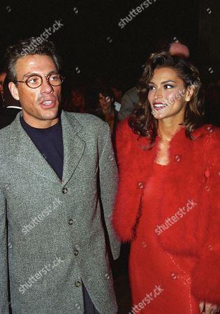 Jean Claude Van Damme and wife Darcy LaPier