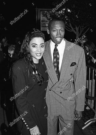 Stock Photo of Florence Griffith Joyner and husband Al Joyner
