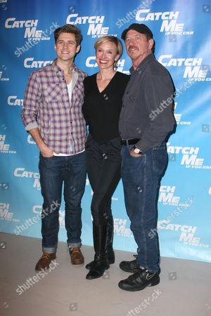 Stock Photo of Aaron Tveit, Rachel de Benedet and Tom Wopat
