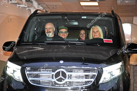 Bono of U2 and his daughter Jordan Hewson leave the Grand Hotel for the last concert of four at Globen